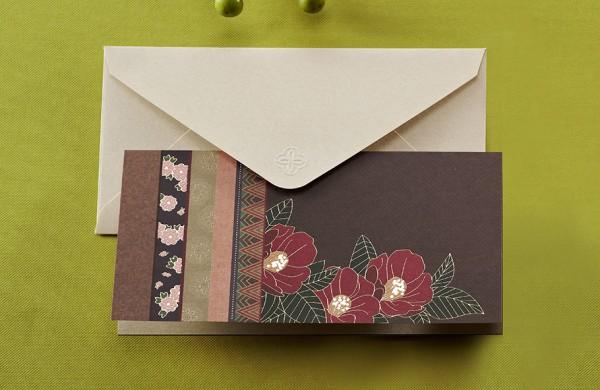전통 동백꽃 카드